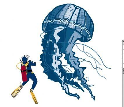 free vector Jellyfish Vector