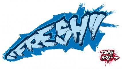 "free vector ""FRESH"" - design Tommy Brix"