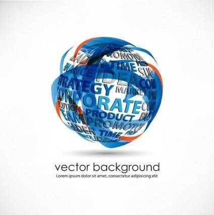 free vector 3d dynamic logo05 vector