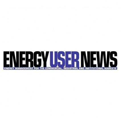 Energy user news