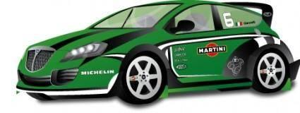 free vector Lancia Delta Rally - Racing