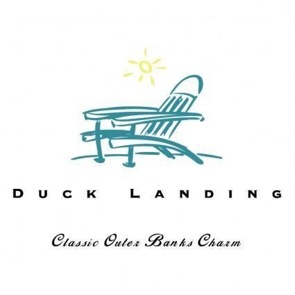 free vector Duck landing