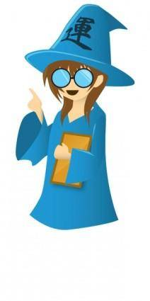 free vector Wizard (manga style)