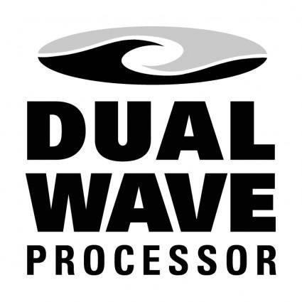 free vector Dual wave processor