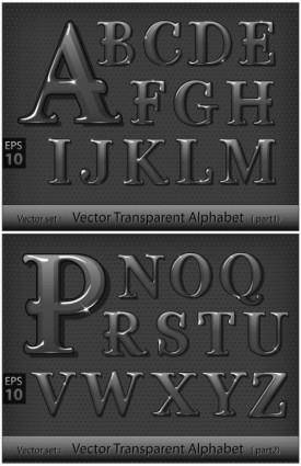 Metallic letters vector