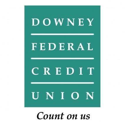 free vector Downey federal credit union
