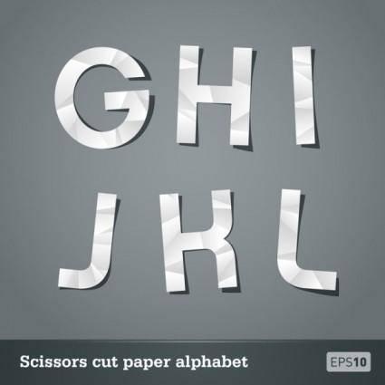 Papercut letters 02 vector