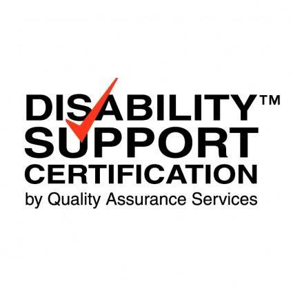 free vector Disability support certification