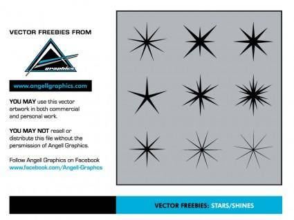free vector Stars and Shines Vector