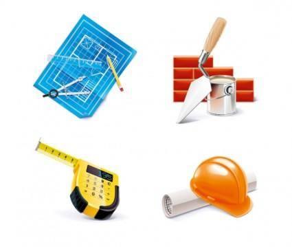 free vector Construction tools vector