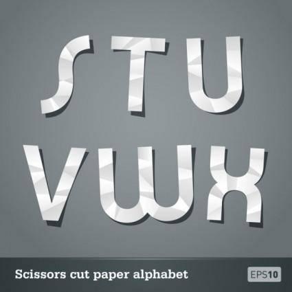 Papercut letters 03 vector