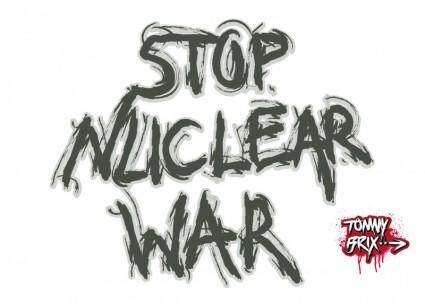 free vector STOP NUCLEAR WAR - design Tommy Brix