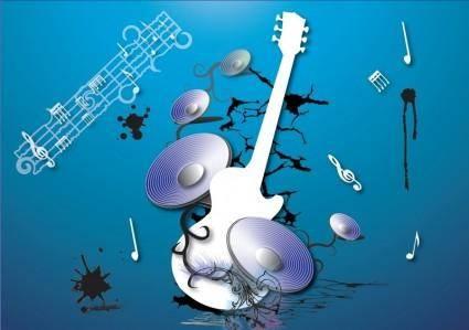 free vector Guitarra e musica Vector