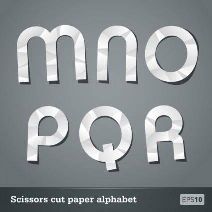 Papercut letters 04 vector