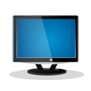 free vector Flat Screen LCD Television