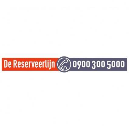 De reserveerlijn