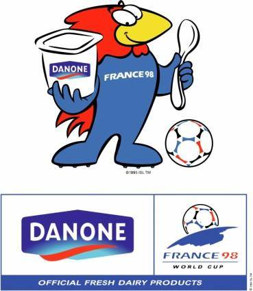 free vector Danone sponsor of worldcup 98