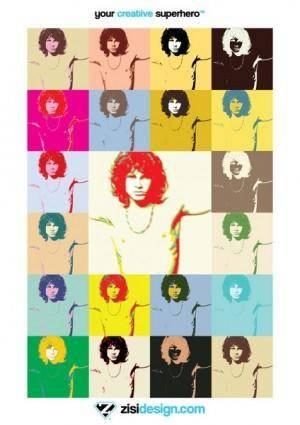 free vector Pop Art Jim Morrison The Doors Poster Vector