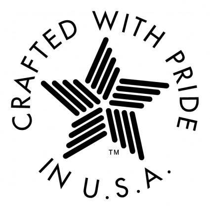 free vector Created with pride in usa