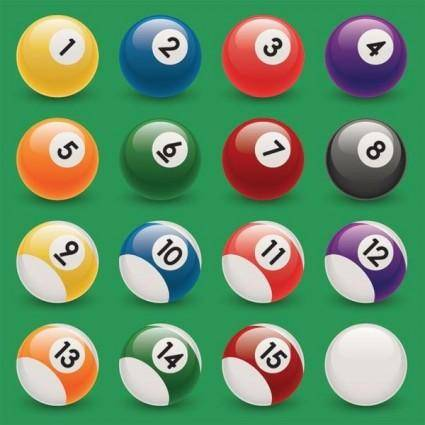 free vector Snooker Pool Ball Vectors