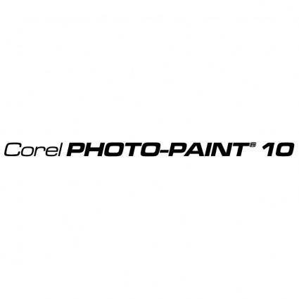 free vector Corel photo paint 10