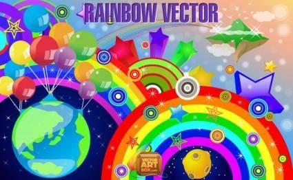 free vector Rainbow Vector