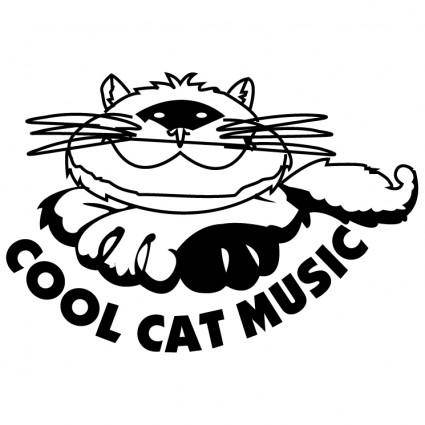 free vector Cool cat music