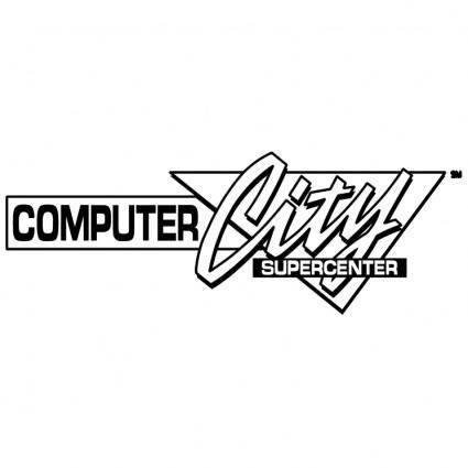 free vector Computer city 0