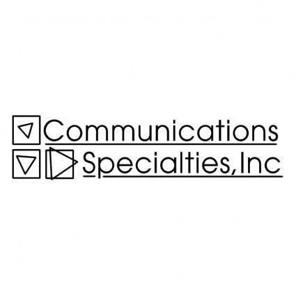 Communications specialties