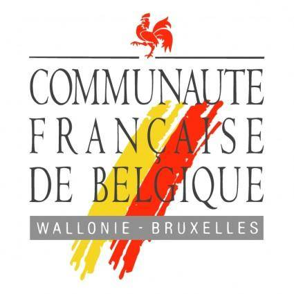 free vector Communaute francaise de belgique