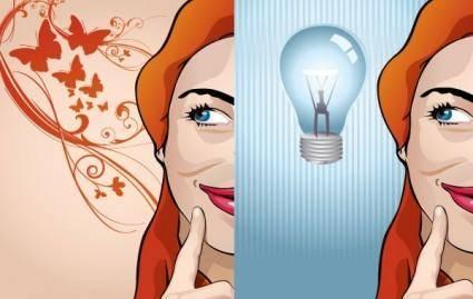 free vector Creative Woman