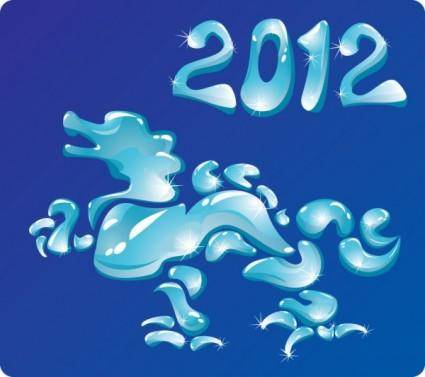 2012 year of the dragon creative design 01 vector