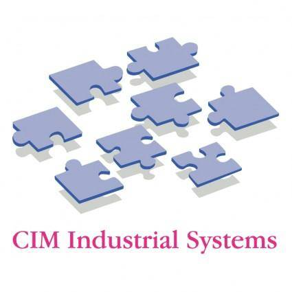 free vector Cim industrial systems
