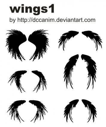 free vector Dccanim_wings1