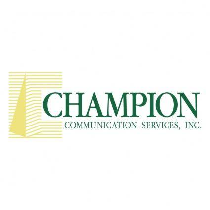 free vector Champion communication services 0