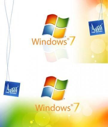 free vector Windows 7 wallpaper BY THE ZAKIES