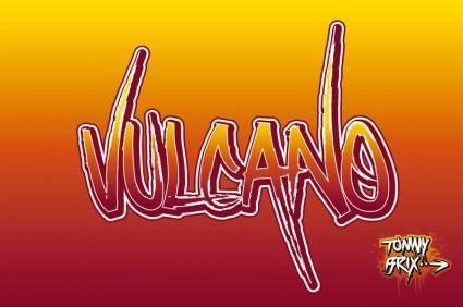 free vector VULCANO - design Tommy Brix
