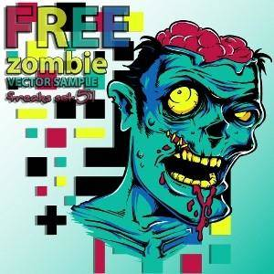 Free Zombie Vector Sample