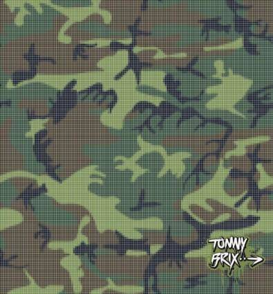 free vector Raster #3 (Camouflage) - design Tommy Brix