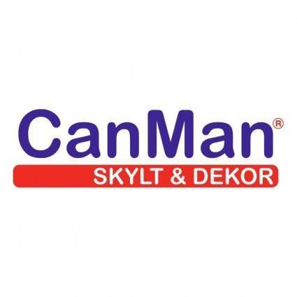 Canman skylt dekor