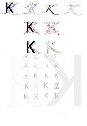 free vector The letter K