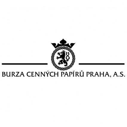 free vector Burza cennych papiru praha