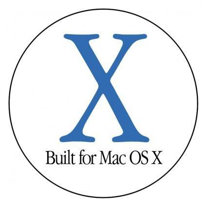 free vector Built for mac os x