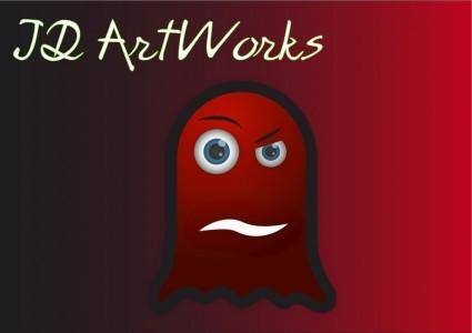 free vector Ghost red vector