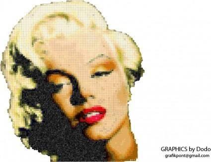 free vector Marilyn Monroe mosaic