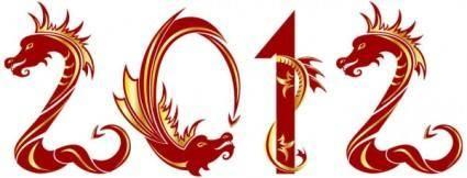free vector 2012 year of the dragon creative design 04 vector