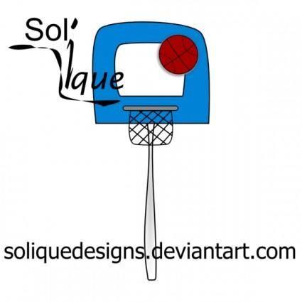 free vector Basketball and Hoop