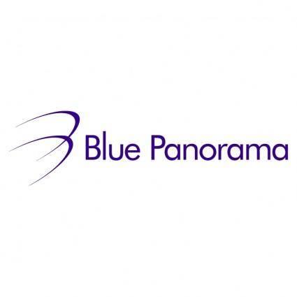 free vector Blue panorama