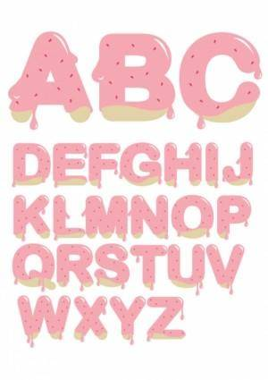 free vector Strawberry jam letters vector
