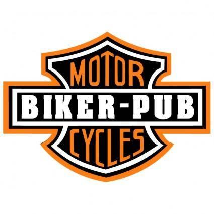 free vector Biker pub